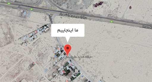 کارتن سازی پارس ایران بر روی نقشه گوگل